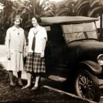 Barbara with Alice Dyer Russell, in Pasadena, California, March 1930